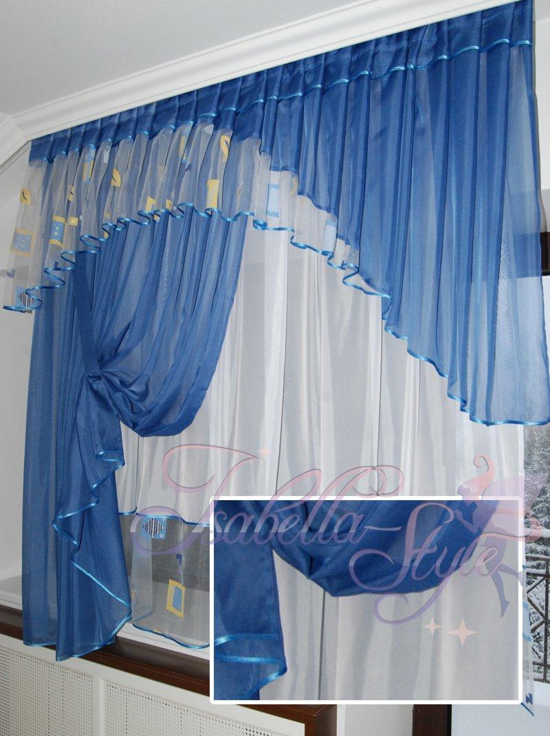 Шторы для голубой кухни фото